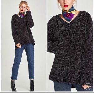 Zara chenille sweater 🕶